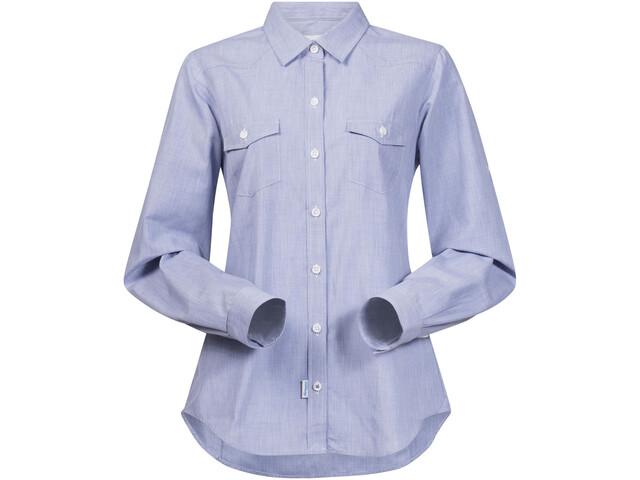 Bergans Justøy Shirt LS Damen chambray blue